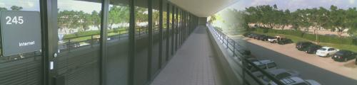 [The Walkway outside The Corporate Offices]