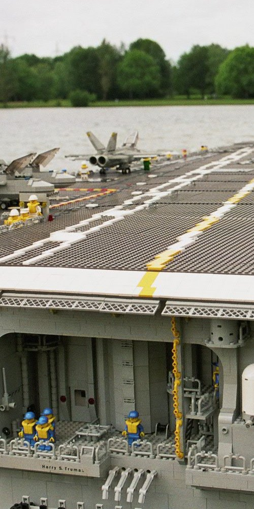 [The USS Harry S Truman, minifig scale]