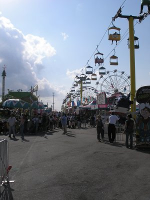 [Lots of food, rides and people]