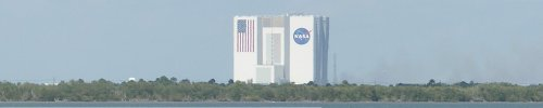 [That small building?  Four shuttle launch assemblies could fit in that small building …]