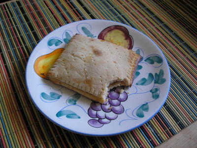 [Apple-filled homemade Pop Tart™]