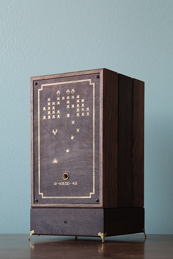 [A beautiful wooden gaming system]