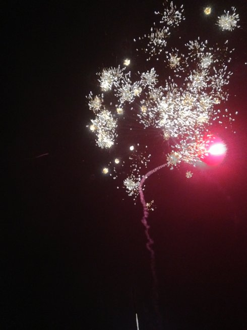 [And the rocket's red glare, the bombs bursting in air,/Gave proof through the night that our flag was still there]