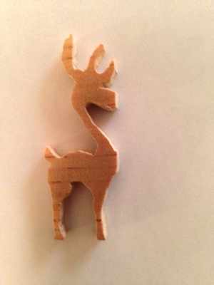 [With some sanding, you can't even tell it was suppose to have four antlers]