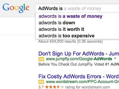 [I'm amused that the GoogleAI has realized that lots of people don't think too highly of AdWords.]