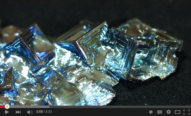 [A metal that melts at 550°F?  And makes pretty crystals?  What's not to like?]