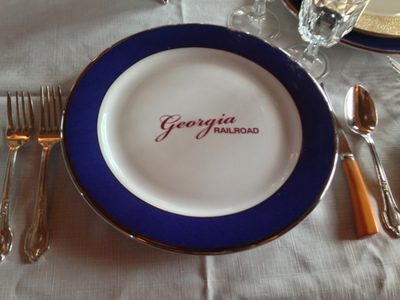 [Original dinner ware from the Georgia Railroad.]