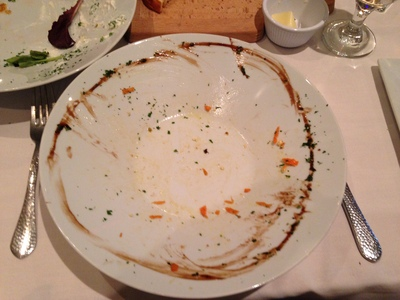 [I came close to licking the bowl clean.  And this was just the salad!  Yes, the food is that good.  And I'm still hoping pictures of empty dinner plates becomes a thing.]