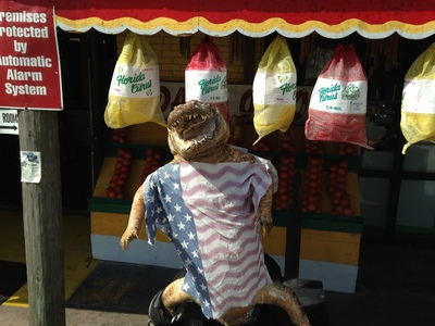 [Here, have a stuffed alligator wearing an American flag somewhere in the Deep South. You are welcome.]
