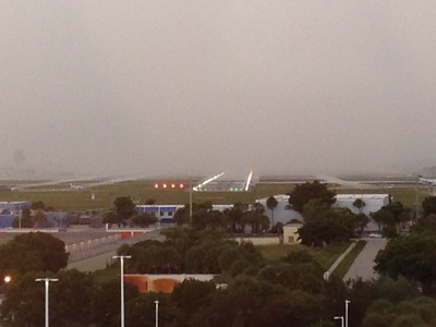 [I … I don't think that's fog enveloping the airport …]