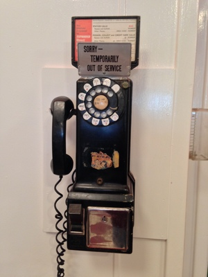"[Wow! A phone you can really dial!  So that's where the term ""dialing"" came from!]"