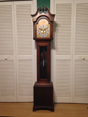 [A grandmother clock from Colonial Mfc. Co.] I'll take this tick tock over TikTok any day.